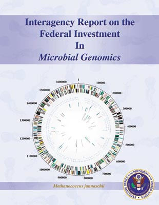 Interagency Report on the Federal Investment In Microbial Genomics Report Cover