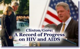 Clinton/Gore: A Record of Progress on HIV and AIDS
