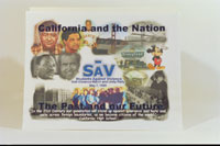 A collage titled, 'California and the Nation'