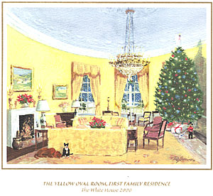 White House Christmas Card for 2000