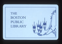 PHOTO: Public library card