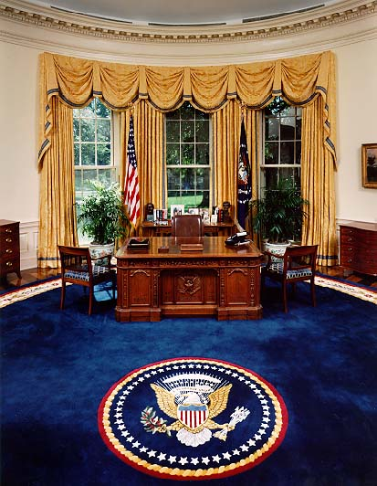 white house oval office desk. [The Oval Office] White House Office Desk