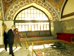 Touring Sultan's Palace in Turkey.