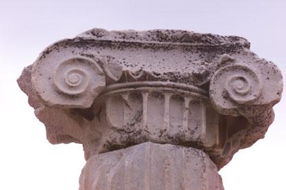 A column detail from the ancient city of Ephesus.