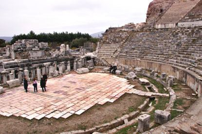 The Great Theater at Ephesus, dating back to the 1st century A.D.