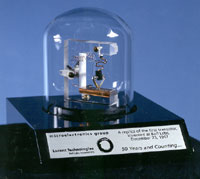 PHOTO: Model of First Transistor