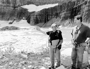 Photo: Vice President Gore at Glacier National Park, September 1997